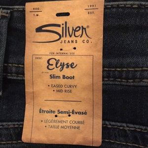 Silver Jeans Jeans - SILVER JEANS Elyse Mid Slim Boot NWT. Plus Size 18